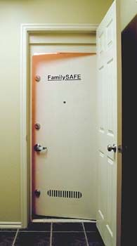 Family Safe Room / Storm Shelter haha im sure dad would love to have one of… Hidden Spaces, Hidden Rooms, Survival Prepping, Emergency Preparedness, Tornado Safe Room, Storm Shelters, Quonset Homes, Panic Rooms, Secret Storage