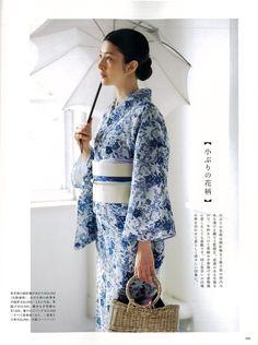 """rainbow in your eyes — taishou-kun: Yukata for """"Otona no oshare techou"""". Yukata Kimono, Kimono Dress, Kimono Top, Traditional Japanese Kimono, Traditional Dresses, Japanese Outfits, Korean Outfits, Japanese Lifestyle, Summer Kimono"""