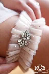 Embellished Garter I didn't even wear a garter on my wedding day because I couldn't find anything as beautiful as this! Wedding Attire, Wedding Events, Our Wedding, Dream Wedding, Wedding Bride, Tulle Wedding, Wedding Night, Wedding Things, Wedding Makeup