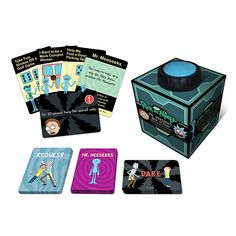 Rick and Morty Mr. Meeseeks Dice Dares Game Cryptozoic Entertainment Rick and Morty Games Rick And Morty Game, Rick And Morty Episodes, Rick Y Morty, Rick And Morty Merch, Dare Games, Fun Games, Mister Meeseeks, Hit The Button, Adult Party Games