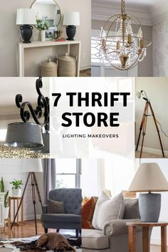 7 Thrift Store Lighting Makeovers that are so easy to make. All of these lights are made with items found at a Thrift Store.