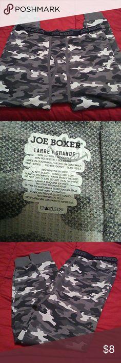 NWOT/Joe Boxer Long Johns L/ Camouflage gray long johns. Will keep you warm inside or outside. 60% cotton 40% polyester Joe Boxer Underwear & Socks