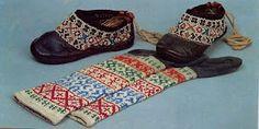 Socks from Northern Khanty (from folkcostume.blogspot.com)
