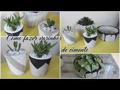 FAÇA VOCÊ MESMO - Vasinhos de cimento para plantas! (Lidy Artesanato) - YouTube Diy Planters, Planter Pots, Cement Crafts, Feng Shui, Diy Crafts, Make It Yourself, Blog, Instagram, Youtube