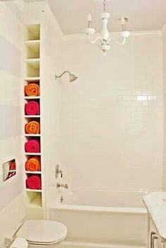 MAKE MY SHOWER SMALLER AND ADD THIS SHELF LIKE THEY DID