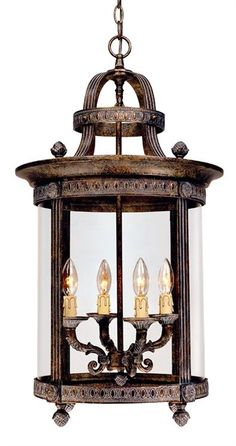 World Imports WI1604 Tuscan 4 Light Indoor Pendant from the French Country Influence Collection