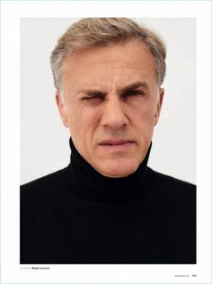Christoph Waltz dons a Ralph Lauren sweater as he covers Esquire España. The actor covers the magazine's December 2017 issue. Embracing a quirky demeanor,