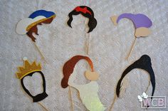 Snow White Inspired Photo Booth Props | Prince Charming | Evil Queen | Dopey | Grumpy | Dwarfs | Beggar