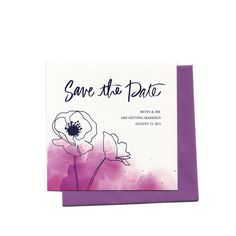 New to anopensketchbook on Etsy: Watercolor Poppies Wedding Invitation Suite | Custom Beet Watercolor Floral Wedding Invitation  Save The Date with Hand Calligraphy (3.00 USD)