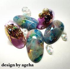 ミルキーアンバー♡ の画像|ネイルアーティスト ageha ネイルデザインブログ
