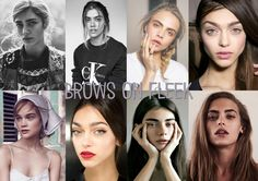 Brows on Fleek - I really love this eyebrow style, naturally full dark brows that look slightly disheveled whilst also keeping that classic brow shape. I think it's a lot prettier than the super stylized 'Instagram eyebrow' you see so often nowadays, it gives off a more natural and almost grungy vibe. It just makes the girls look so much more cool and interesting.