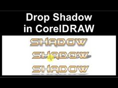 Basic drop shadow applied to text in CorelDraw Glow Effect, Drop Shadow, Coreldraw, Texts, Tutorials, How To Apply, Youtube, Captions, Youtubers