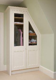 Sloped ceiling storage