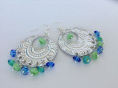Upcycled Recycled Aluminum Earrings  Silver by RecyclingRedefined, $15.00