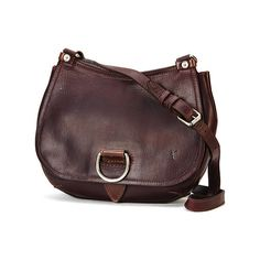 Women's Frye Amy Crossbody - Burgundy Small Handbags ($338) ❤ liked on Polyvore featuring bags, handbags, shoulder bags, burgundy, zipper handbag, cross body, burgundy purse, crossbody purse and frye
