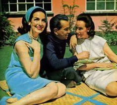 """María Félix, Mario Moreno """"Cantinflas"""" y Dolores del Río."""
