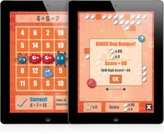 Addition, subtraction, multiplication, and division have never been more fun. Get five Bingo Bugs in a row by correctly solving math problems.