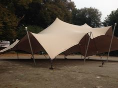 9x13 meter flextent, build on solid ground