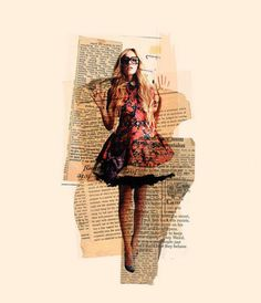 from clementine levy's blog. collages