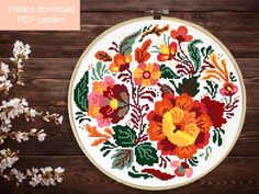 Free Cross Stitch Charts, Funny Cross Stitch Patterns, Simple Cross Stitch, Folk Embroidery, Learn Embroidery, Cross Stitch Embroidery, Embroidery Patterns, Embroidery Techniques, Etsy