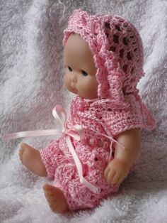 Crochet pattern for Berenguer 5 inch baby doll by petitedolls