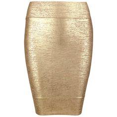 Posh Girl Gold Foil Print Bandage Mini Skirt ($88) ❤ liked on Polyvore featuring skirts, mini skirts, multi, bandage skirt, beige skirt, short mini skirts, pattern skirt and mini skirt