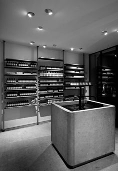 Aesop ABC Vertiel - Hamburg, Germany. Collaboration with VVDA /// boutique / ceiling light / decorative / technical / directional / steel /// Contact us - pslab.net