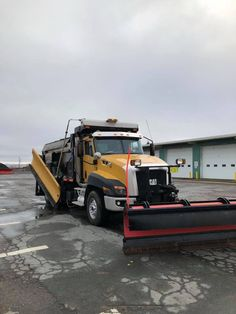 Gas station plow