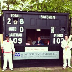Sharing a double century partnership with our Aussie overseas, Ben Grinter, for Mobberley C.C. #double #hundred #opening #cricket #partnership #australian #scorebox