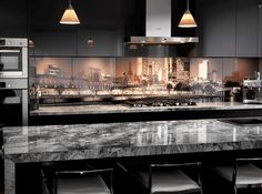 Printed Glass Splashback - Kitchen Design - Melbourne Skyline Photo Art
