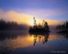Lone Island on Fenske Lake, Superior National Forest, Minnesota. Photo © copyright by Gary Alan Nelson