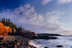 Maine coast at sunrise. This picture reminds me of a favorite family vacation spot -- perfection.
