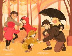 Día de lluvia, batfamily