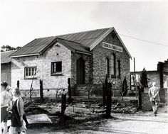 Blue Mountains Bushfires 1957, Wentworth Falls. No longer a church this building still stands in my town. Looks a bit different these days!
