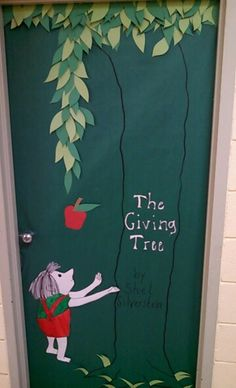 March is Reading Month-Principal's Office Door-The Giving Tree
