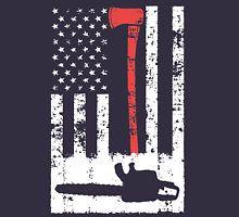 Logger Flag T-Shirt - just ordered this. Thin Red Line Flag, Tree Surgeons, Stihl Chainsaw, Lumberjacks, Tree Logos, Stencil Art, Cricut Creations, Climber, Wood Cutting