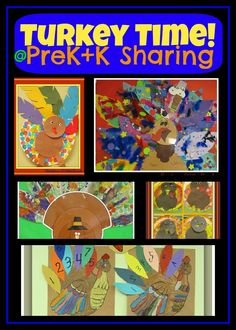 """Turkey Time"" Art Projects for Preschool + Kindergarten via PreK+K Sharing"