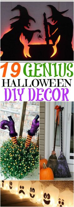 The BEST Do it Yourself Halloween Decorations {Spooktacular - cute halloween diy decorations