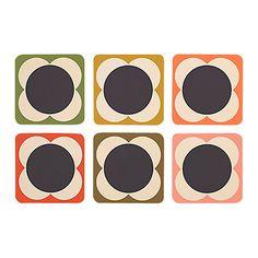 Buy Orla Kiely Flower Spot Coasters, Set of 6 Online at johnlewis.com