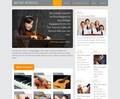 Stunning Music Website Templates for Your Band 2018 Music Website Templates, School Website Templates, Music School, Listening To Music
