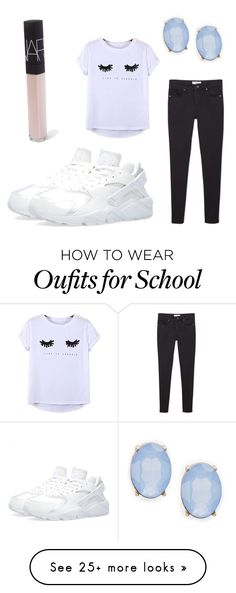 """""""School """" by perfectwitch on Polyvore featuring NIKE, MANGO, Chicnova Fashion, NARS Cosmetics and Cara"""