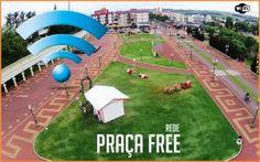Praça Angelo Darolt (conhecida como Praça Central): acesso a internet grátis. Município de Medianeira, Paraná.