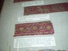 V Museum - fragments of 11-13th C. embroidery.