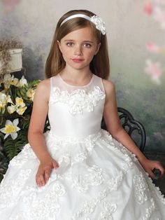 Tea Length Organza Girls Formal Dress Joan Calabrese 112326: PageantDesigns.com