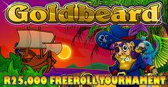 Win in the #FreeRollSlotTournament @ #SilverSandsCasino  Silver Sands and Jackpot Cash Casino are hosting a 15 day Free Roll Slot Tournament .The tournament is being run on the GoldBeard Slot machine  https://www.playcasino.co.za/blog/win-share-r25000-free-roll-slot-tournament-silver-sands/