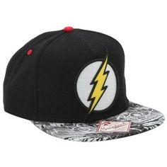 DC Comics The Flash Logo Snapback Hat Hot Topic ❤ liked on Polyvore  featuring accessories f37c396fe5