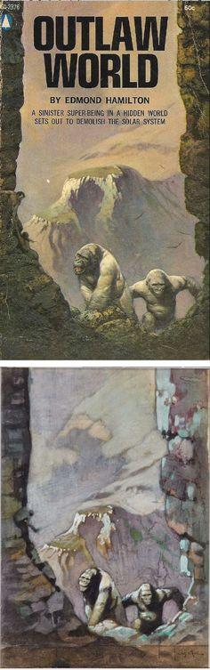 FRANK FRAZETTA - Outlaw World by Edmond Hamilton - 1969 Popular Library - print/cover by capnscomics.blogspot.com