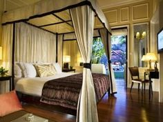 Cabana Suites - Discover Raffles Grand Hotel d'Angkor, hotel in Siem Reap and enjoy the hotel's spacious, comfortable rooms. Feel welcome to our elegant and luxurious hotel where we will make your stay an unforgettable experience. Bedroom Decor, Fantasy Bedroom, Bedroom Inspirations, Beautiful Bedrooms, Home, Hotel, Suites, Hotels Room, Grand Hotel