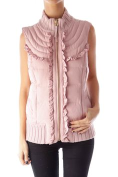 Like this Juicy Couture vest? Shop this without using money! Trade. Shop. Discover. #fashionexchange #prelovedfashion  Pink Down Vest by Juicy Couture