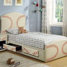 Really cute baseball bed